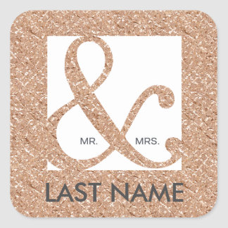 Etiqueta da folha de ouro do Sr. & da Sra.