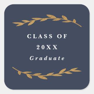 Etiqueta da folha do falso da graduação do ramo da