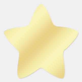 Etiqueta da folha do falso do ouro
