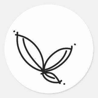 Etiqueta da folha simples