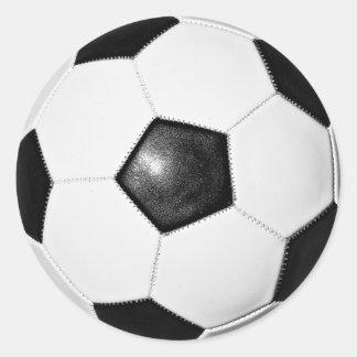 Etiqueta da foto da bola de futebol adesivo