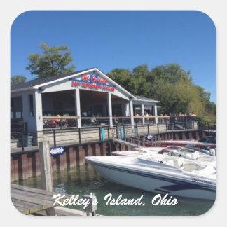 Etiqueta da foto do porto da ilha de Kelley, Ohio
