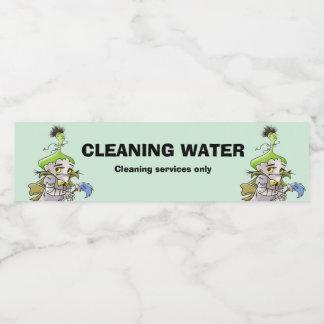 Etiqueta da garrafa de água da MANTEIGA de FRANKY