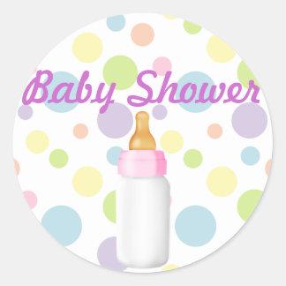 Etiqueta da garrafa de bebê & do chá de fraldas