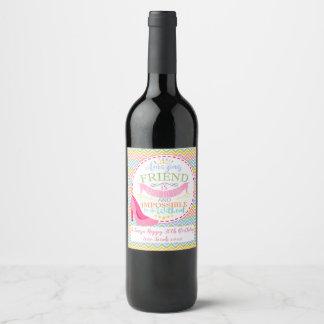 Etiqueta da garrafa de vinho, BFF, ideia do