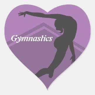 Etiqueta da ginástica do exercício de assoalho