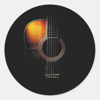 Etiqueta da guitarra acústica