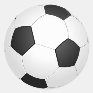 Etiqueta da ilustração do futebol da bola de
