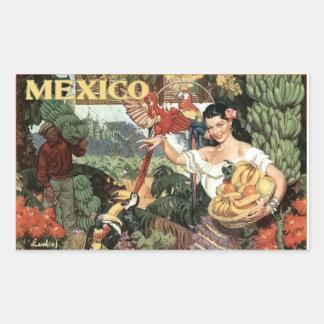 Etiqueta da imagem do vintage de México