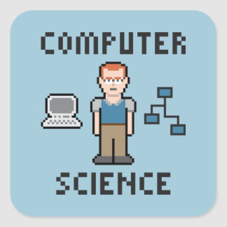 Etiqueta da informática do pixel adesivo quadrado