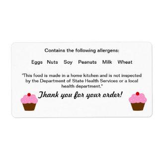 Etiqueta da lei de comida da casa de campo de