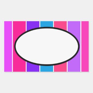 Etiqueta da listra dos doces adesivos em formato retangulares
