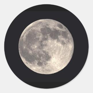 Etiqueta da Lua cheia Adesivos Em Formato Redondos