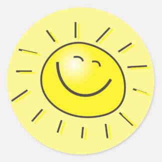 Etiqueta da luz do sol adesivo