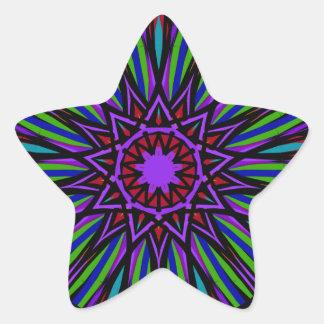 Etiqueta da mandala da estrela. Roxos brilhantes,
