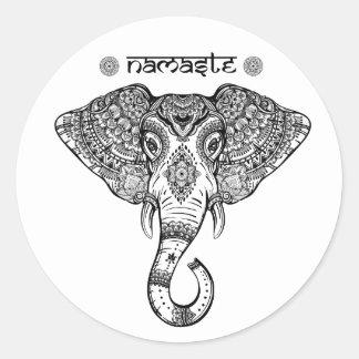 Etiqueta da mandala do elefante