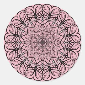 Etiqueta da mandala - escolha sua cor do fundo