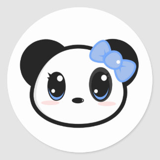 Etiqueta da menina da panda de Chibi Adesivo