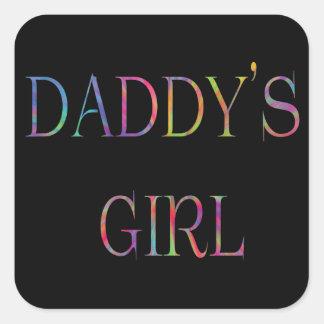 Etiqueta da menina do pai