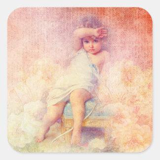 Etiqueta da menina do vintage