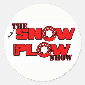 Adesivo Redondo Etiqueta da mostra do arado de neve por Derreck