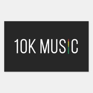 etiqueta da música 10K Adesivo Retangular