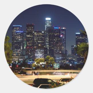 Etiqueta da noite de Los Angeles Adesivo Redondo