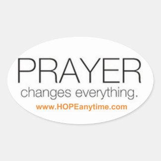 Etiqueta da oração adesivo oval