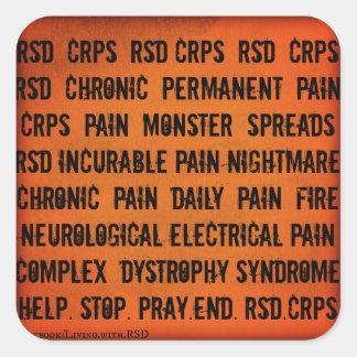 Etiqueta da palavra de RSD CRPS