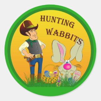 Etiqueta da páscoa de Wabbits da caça Adesivo