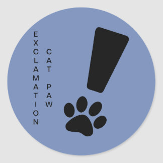 Etiqueta da PATA do CAT da EXCLAMAÇÃO, resíduo