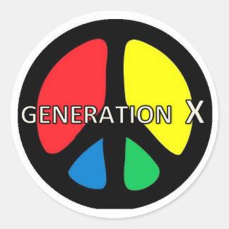 Etiqueta da PAZ da geração X