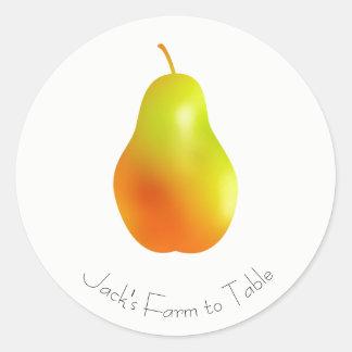Etiqueta da pera