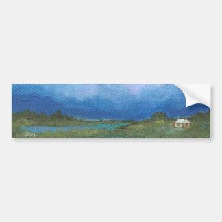 Etiqueta da perspectiva da pintura original adesivos