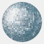 Etiqueta da prata da bola do disco adesivo redondo