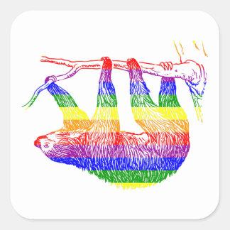 Etiqueta da preguiça do arco-íris
