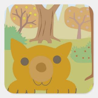 etiqueta da raposa da queda