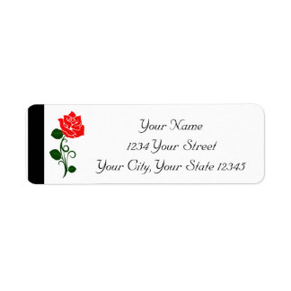 Etiqueta da rosa vermelha