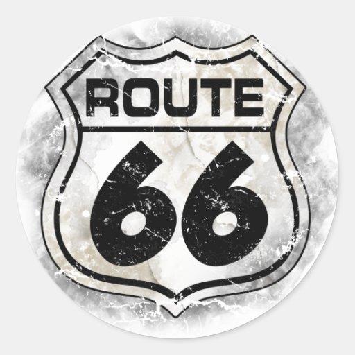 Etiqueta da rota 66 adesivo