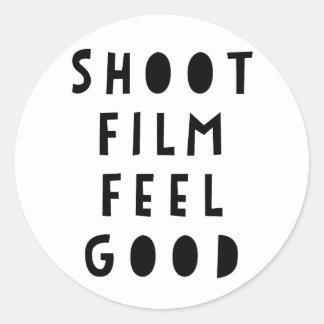 Etiqueta da sensação do filme do tiro boa -