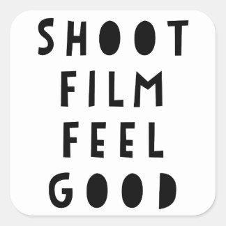 Etiqueta da sensação do filme do tiro boa