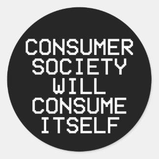 Etiqueta da sociedade de consumidor