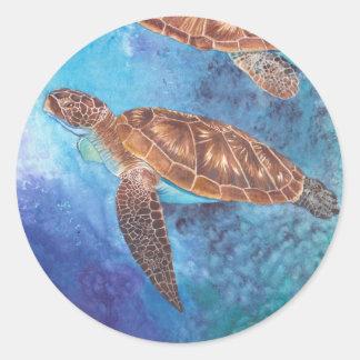 Etiqueta da tartaruga de mar