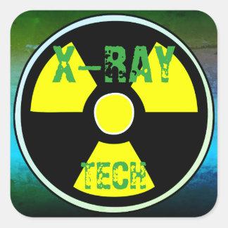 Etiqueta da TECNOLOGIA do RAIO X