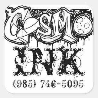 Etiqueta da tinta de Cosmo
