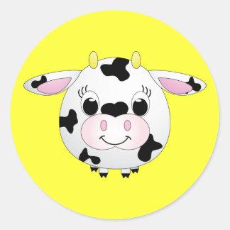 Etiqueta da vaca adesivo