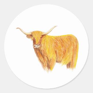 Etiqueta da vaca das montanhas adesivo