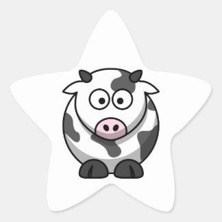 Etiqueta da vaca dos desenhos animados (estrela) adesito estrela