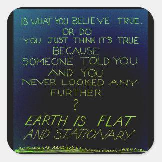 Etiqueta da verdade adesivo quadrado