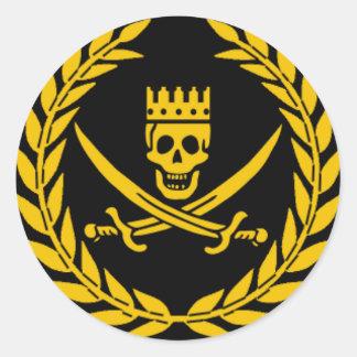 Etiqueta da vitória do pirata - bloco de 20 adesivo em formato redondo